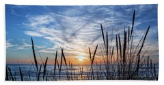 Beach Grass Hand Towel by Delphimages Photo Creations