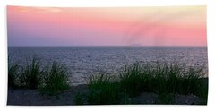 Hand Towel featuring the photograph Beach Grass On Long Island Sound by Donna Walsh