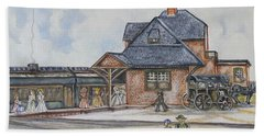 Beach Haven Railroad Station Hand Towel