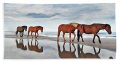 Beach Horses Hand Towel