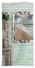 Hand Towel featuring the photograph Beach House By Kaye Menner by Kaye Menner