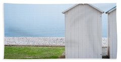 Beach Hut By The Sea Hand Towel