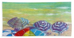 Beach Is Best Hand Towel by Jeanette Jarmon