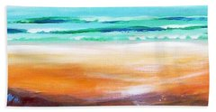 Hand Towel featuring the painting Beach Joy by Winsome Gunning