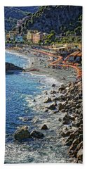 Beach Monterosso Italy Dsc02467 Hand Towel by Greg Kluempers