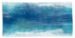 Beach Mood 2- Abstract Art By Linda Woods Hand Towel
