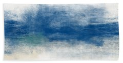 Beach Mood- Abstract Art By Linda Woods Hand Towel
