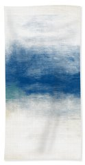 Beach Mood- Abstract Art By Linda Woods Bath Towel