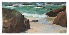 Beach Of Asilamor Hand Towel