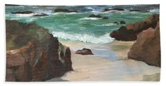 Beach Of Asilamor Bath Towel