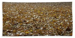 Beach Of Autumn Leaves Hand Towel
