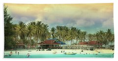 Beach On Darawan Island Hand Towel by Charuhas Images