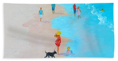 Beach Painting - Beach Day - By Jan Matson Hand Towel