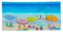 Beach Painting - Catching The Breeze Bath Towel by Jan Matson