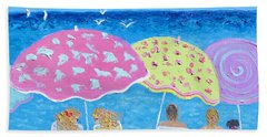 Beach Painting - Lazy Summer Days Hand Towel