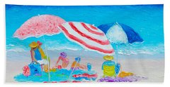Beach Painting - Summer Beach Vacation Bath Towel