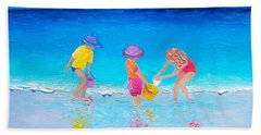 Beach Painting - Water Play  Bath Towel