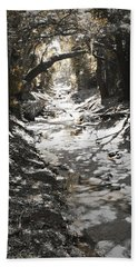 Hand Towel featuring the photograph  Beach Park Storm Drain by Steve Sperry