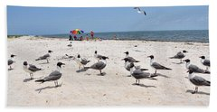 Beach Party Hand Towel by Jan Amiss Photography