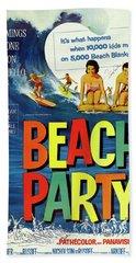 Beach Party Lobby Promo With Frankie Avalon Autograph  1963 Hand Towel by Daniel Hagerman