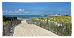 Hand Towel featuring the photograph Beach Path At Cape Henlopen State Park - The Point - Delaware by Brendan Reals