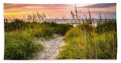 Beach Path Sunrise Bath Towel