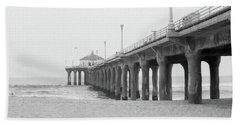 Beach Pier Film Frame Hand Towel