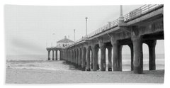 Beach Pier Film Frame Bath Towel