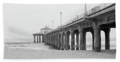 Beach Pier Film Frame Bath Towel