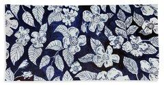 Beach Rose Pattern Hand Towel