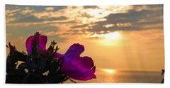 Beach Roses Hand Towel