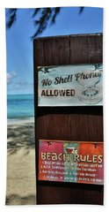 Beach Rules Hand Towel
