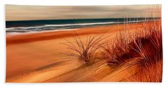 Beach Sand Dunes Bath Towel by Anthony Fishburne