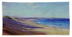 Beach Sand Shadows Bath Towel