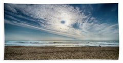 Beach Sand With Clouds - Spiagggia Di Sabbia Con Nuvole Hand Towel