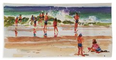 Beach Scene, Afternoon Hand Towel