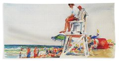 Beach Scene, Cape Cod Hand Towel