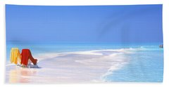 Beach Scenic The Maldives Bath Towel