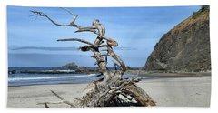 Bath Towel featuring the photograph Beach Sculpture by Peggy Hughes
