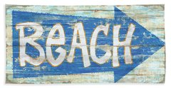 Beach Sign Bath Towel