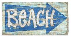 Beach Sign Hand Towel