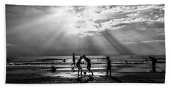 Beach Soccer Hand Towel