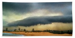 Hand Towel featuring the photograph Beach Storm At Sunset By Kaye Menner by Kaye Menner