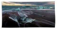 Beach Stranded Bath Towel by Allen Biedrzycki