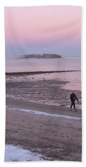 Beach Stroll Hand Towel by John Scates