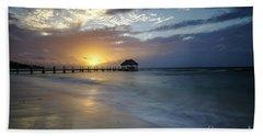 Beach Sunrise Bath Towel by Dennis Hedberg