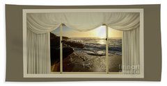 Beach Sunrise From Your Home Or Office By Kaye Menner Bath Towel
