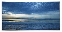Beach Sunset - Blue Clouds Bath Towel
