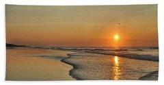Topsail Nc Beach Sunrise Bath Towel