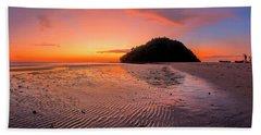 Hand Towel featuring the photograph Beach Sunset In Kudat, Malaysia by Pradeep Raja PRINTS